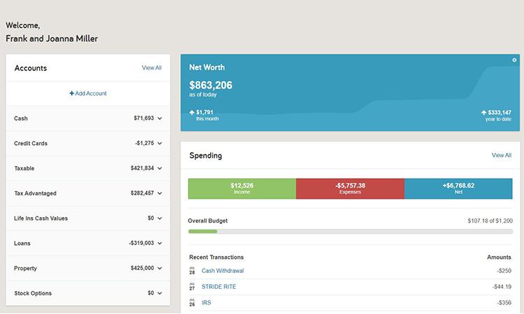Financial Planning Dashboard